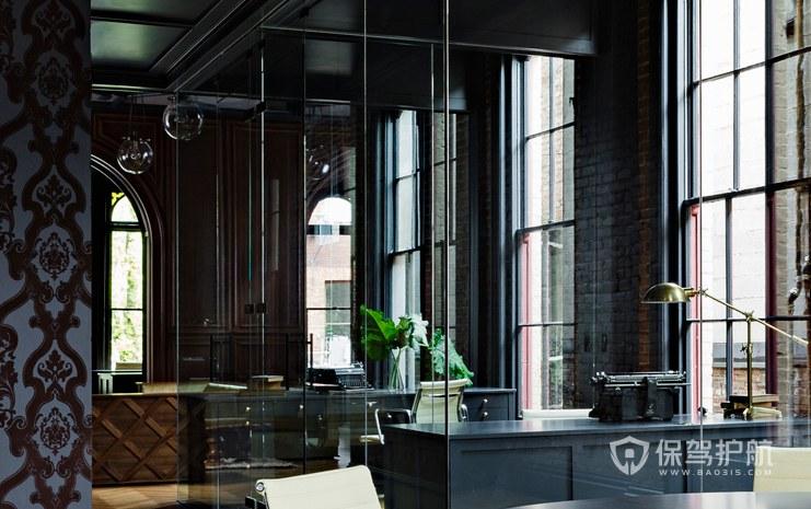 欧式古典风格办公室办公区装修效果图…