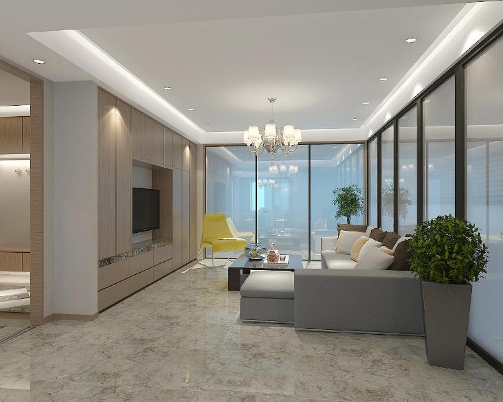 自然舒适简欧风格三居室装修效果图