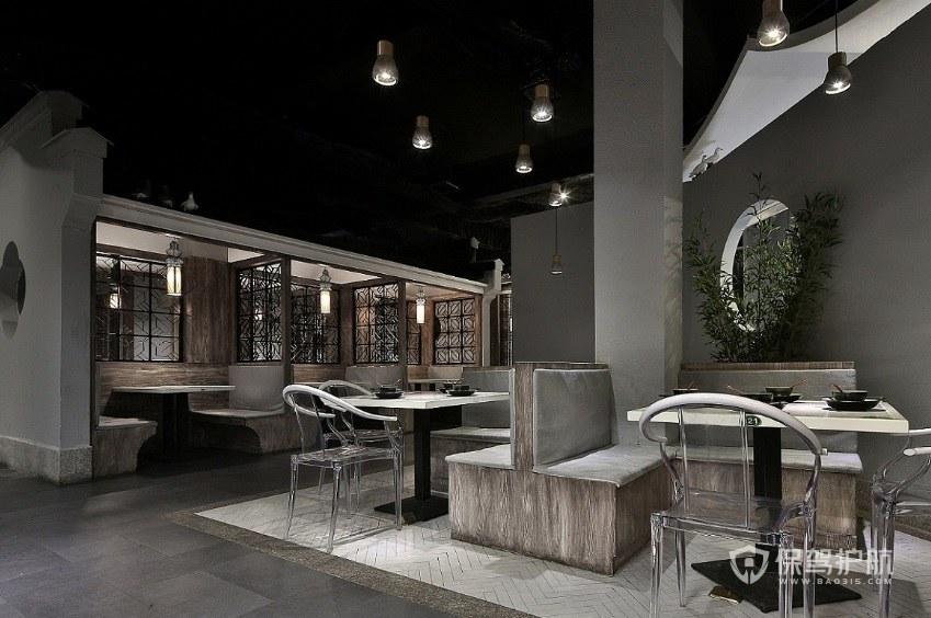 新中式工业风餐厅装修效果图