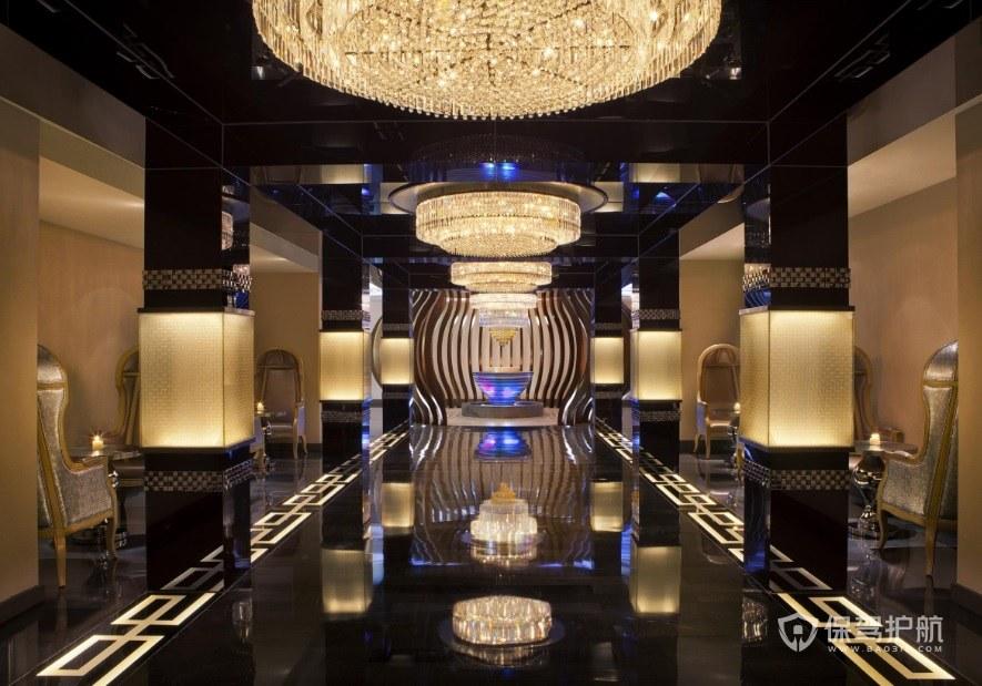 超豪华宫殿式欧式餐厅装修效果图