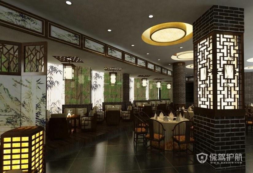 古风典雅中式餐厅装修效果图
