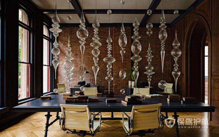 欧式古典风格办公会议室装修效果图