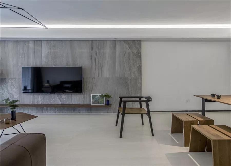 102㎡简练大方现代简约风格三居室装修…