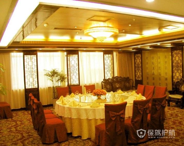 现代中式饭店包厢装修效果图