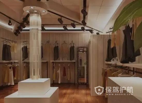 自然风格时装店装修效果图