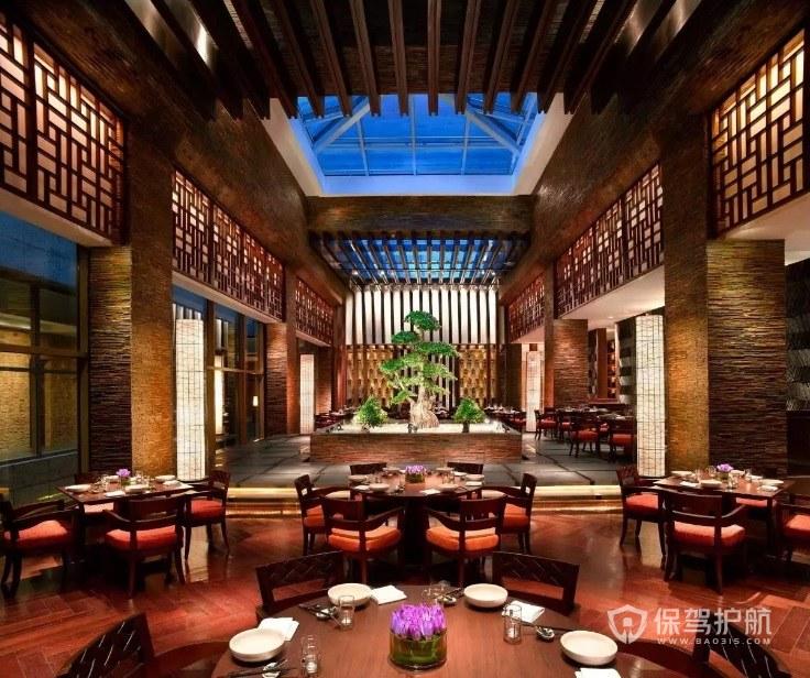 中式复古创意餐厅装修效果图