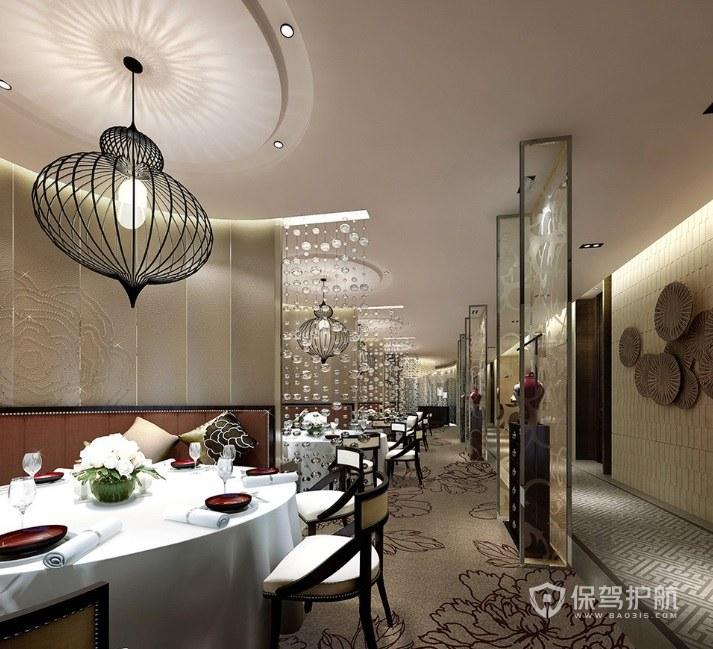 后現代古典餐廳裝修效果圖