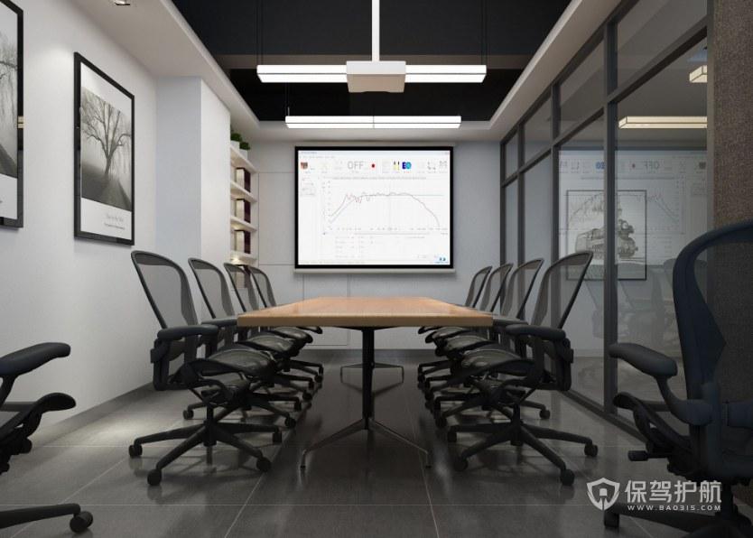 工业风办公会议室装修效果图