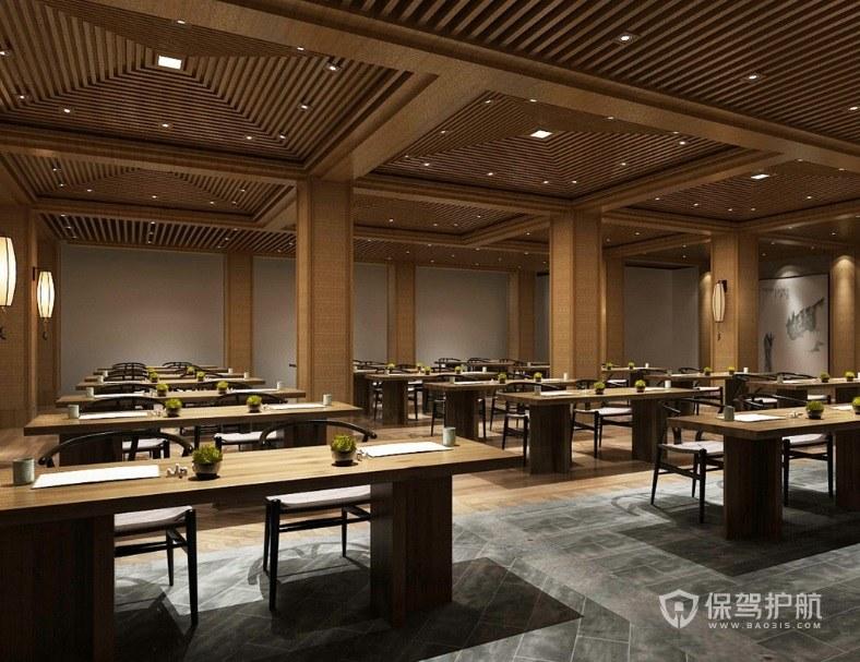 现代日式简约餐厅装修效果图