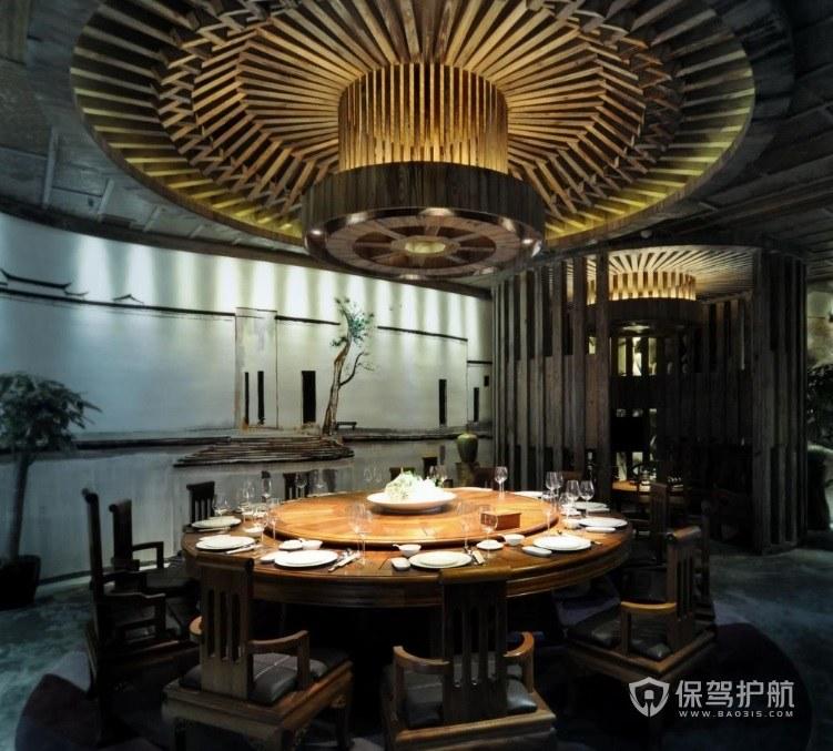 日式森系创意餐厅装修效果图