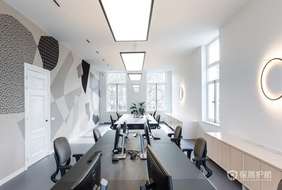 简欧风格办公室办公区装修效果图