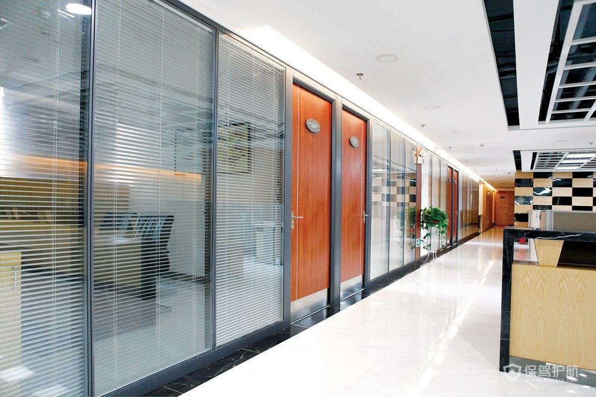 办公室玻璃隔断装修效果图-星际分分彩