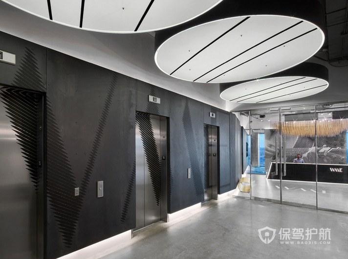 经典风格办公室前台装修效果图
