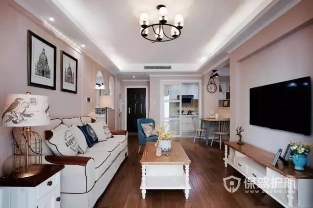 90?㎡简约美式装修风格,两居室改为三居室,充满格调
