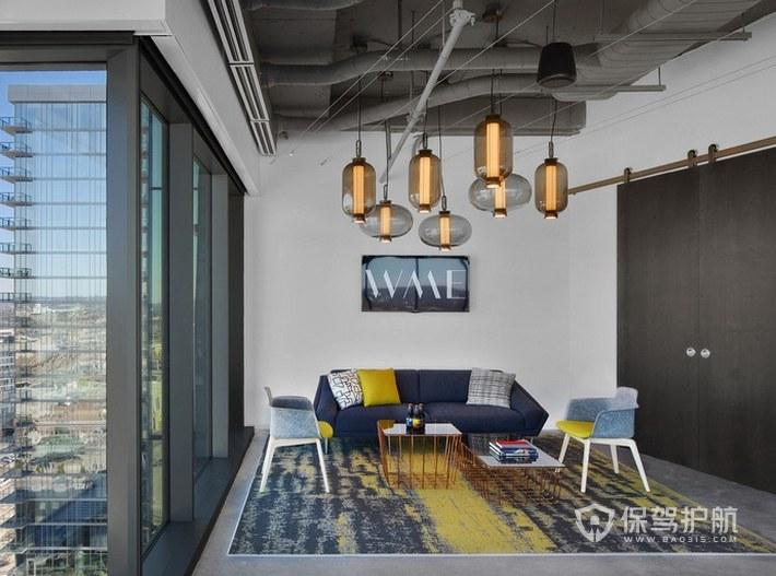 经典风格办公室接待区装修效果图