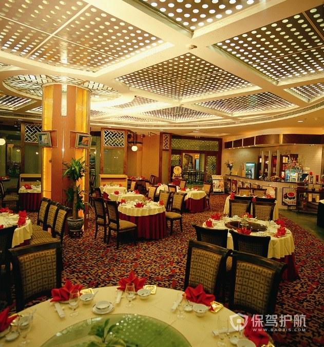 酒店現代復古餐廳裝修效果圖