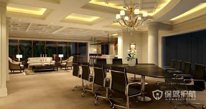 欧式办公室会议室装修效果图