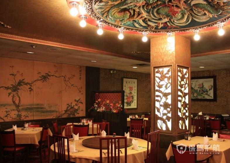 仿古中式餐廳裝修效果圖