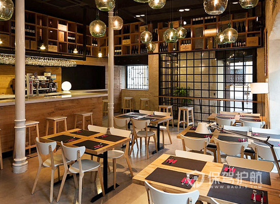 日式简约风格饭店装修效果图