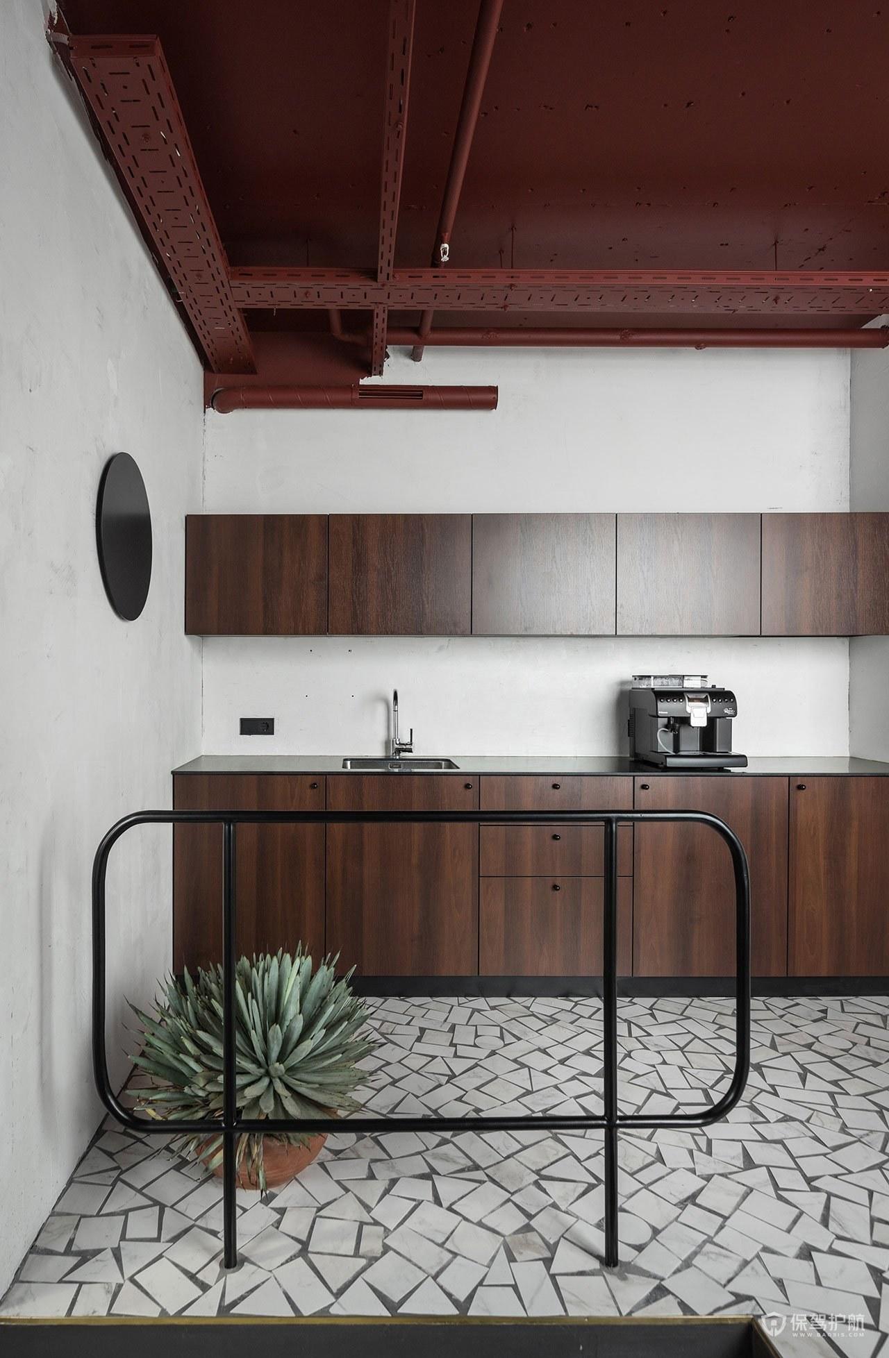 新美式风格办公室茶水区装修效果图
