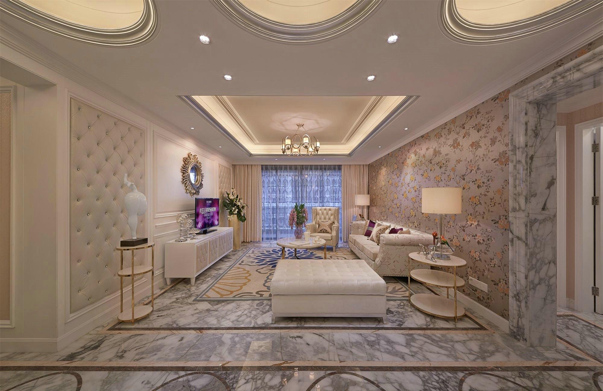 金河谷124平三室欧式风格装修