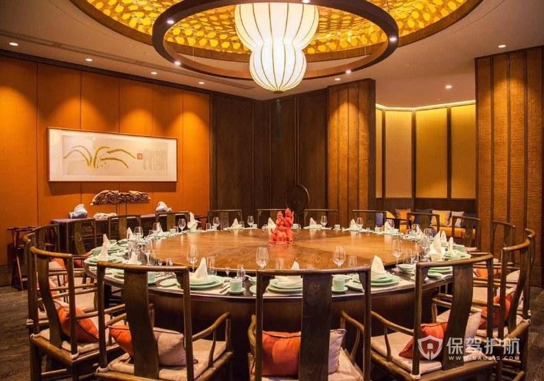新中式豪华大包间餐厅装修效果图