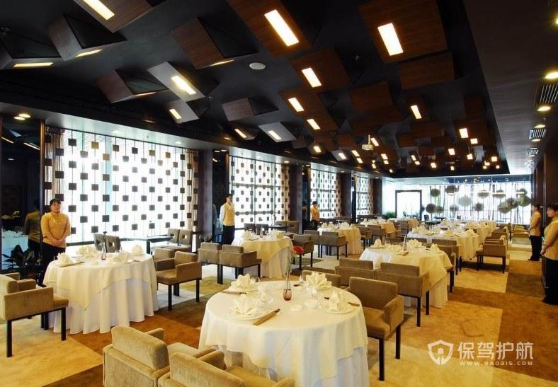 经典西式创意餐厅装修效果图