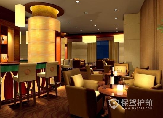 中式简约风酒吧装修效果图