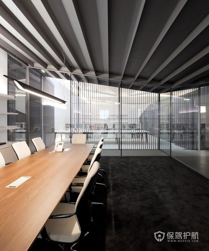 时尚简约办公会议室装修效果图
