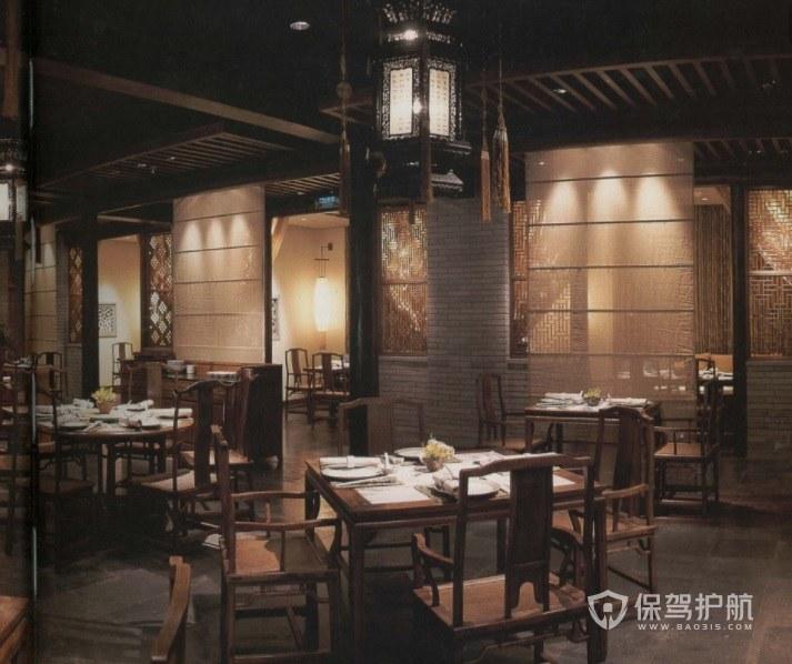 簡樸中式復古餐廳裝修效果圖