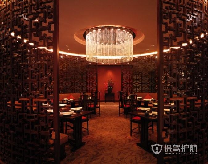 奢华典雅中式餐厅装修效果图