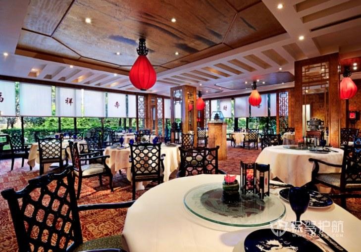 中式古风创意餐厅装修效果图