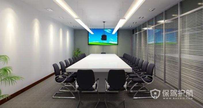 现代欧式会议室装修效果图