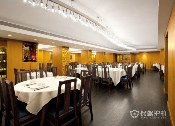 简约传统中式餐厅装修效果图