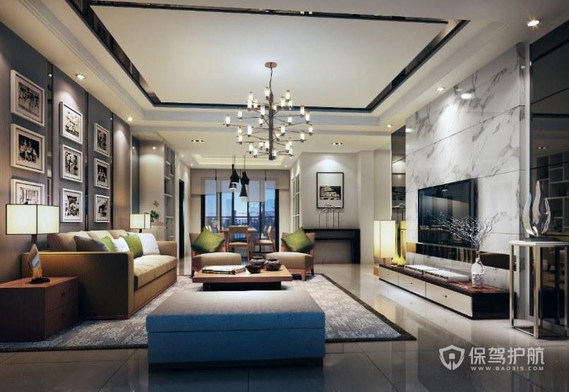 客厅地面铺大理石瓷砖复合板好吗?