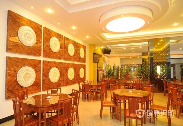 现代中式餐厅装修效果图