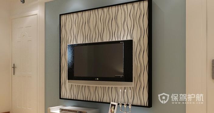 石膏线电视墙造型有哪些?石膏线电视墙装修效果图