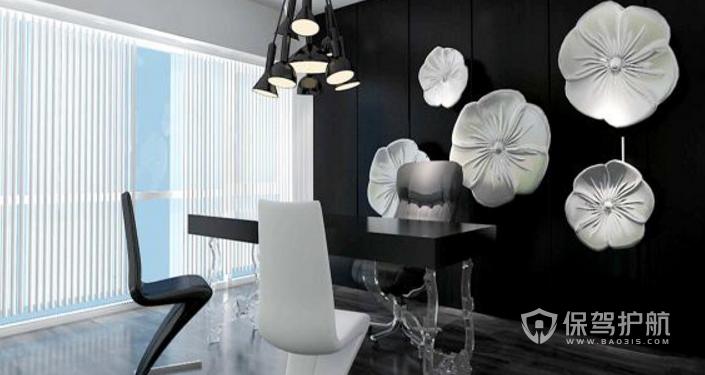 现代黑白配领导办公室装修效果图