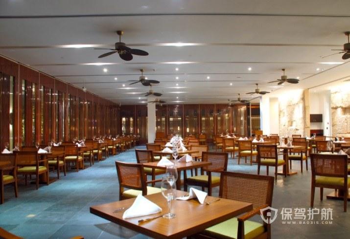 简约中式餐厅装修效果图