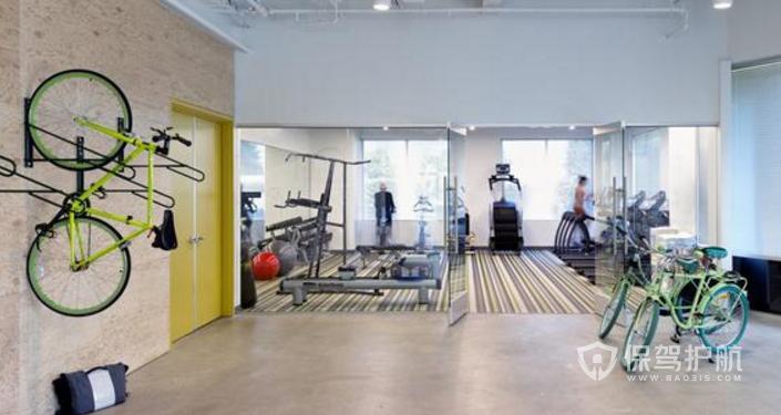 美式办公室健身房装修效果图