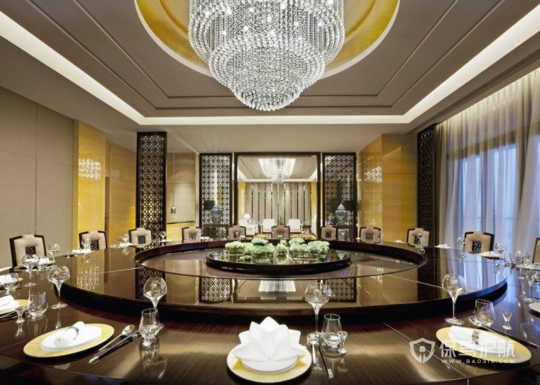 欧式轻奢典雅餐厅装修效果图