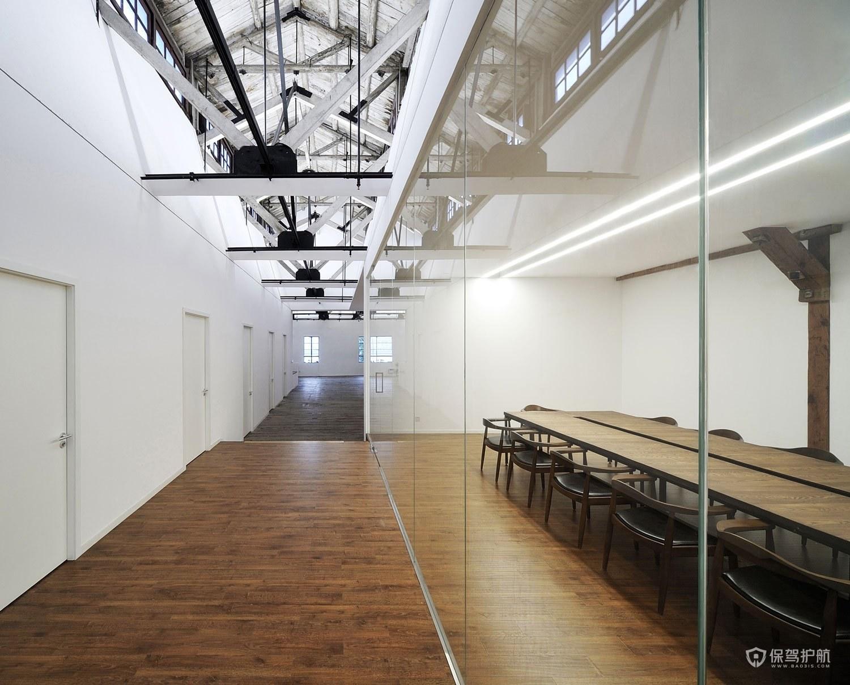 创意复古风办公会议室装修效果图