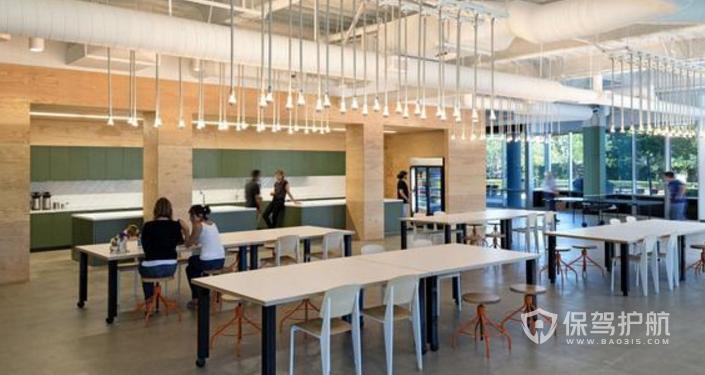 美式办公室用餐区装修效果图