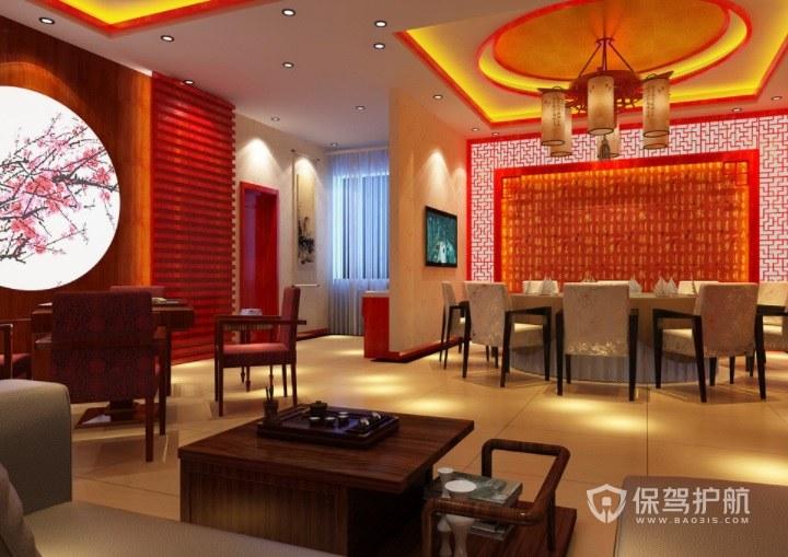中式典雅餐厅包厢装修效果图