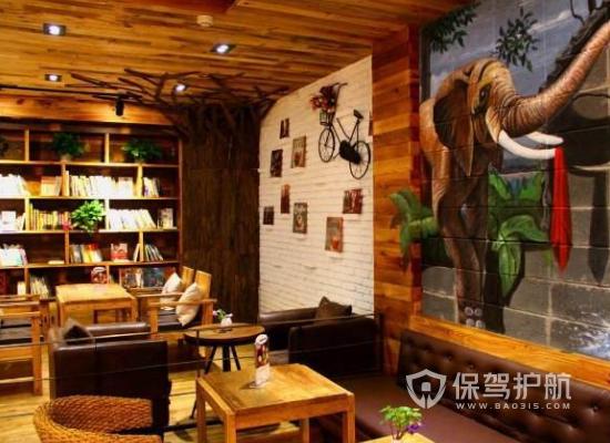 原木风格餐厅装修效果图