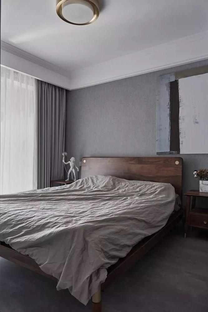 水泥墙现代风三居室装修效果图