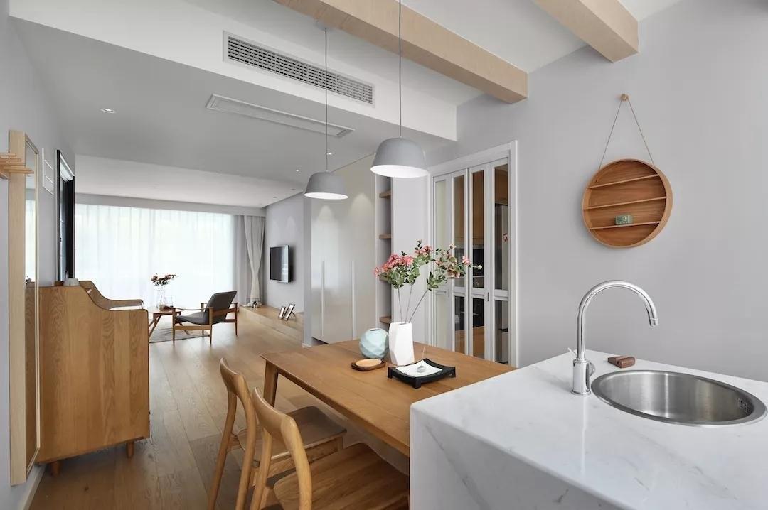 蓝润光华春天100㎡12万北欧风格三居室装修效果图