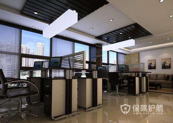 简欧风办公室办公区装修效果图