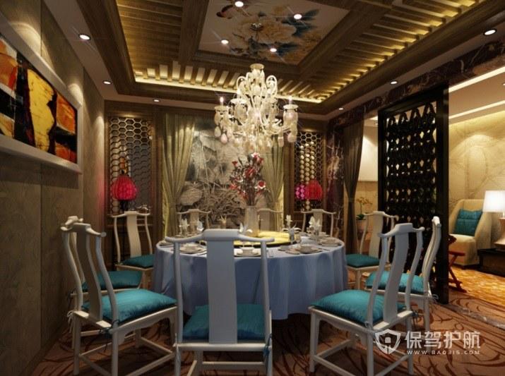 仿中式创意餐厅装修效果图