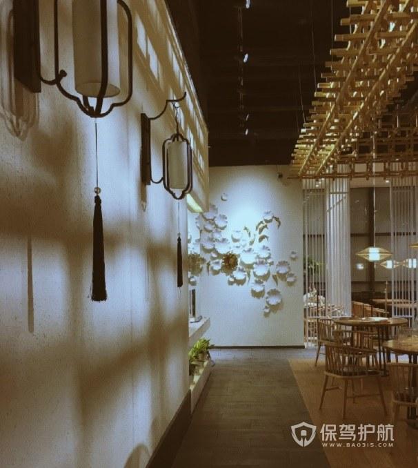仿古风中式餐厅装修效果图
